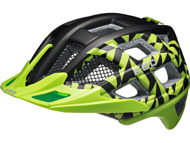 KED Crom Helmet Green Black Matt
